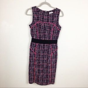 Milly pink and black pencil dress